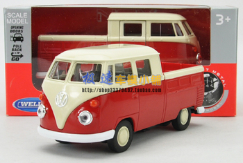 Vw classic bus willie truck t1 WARRIOR gift box alloy car model