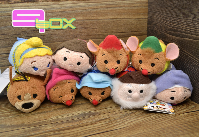 2015 Japan Set Tsum Cinderella plush toys Prince Charming Stuffed Soft Smartphone Cleaner Cute Toys Dolls