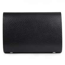 WSFS Wholesale 2 X Leather Wallets Credit Card ID Business Case Purse Men Women - Black(China (Mainland))