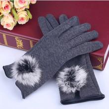 New Brand Winter Women Fashion High Quality Soft Lady's Cashmere Gloves Warm Rabbit Fur Short  Wrist Glove Luvas Mittens Gloves