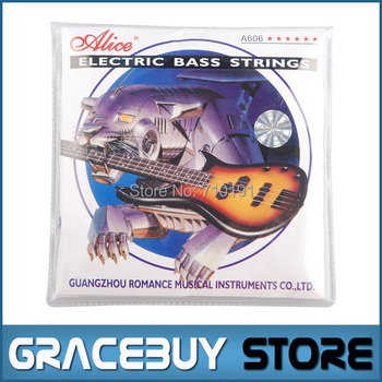 Electric Bass String Alice 5-string set (045 065 085 105 130) Nickel Plated Steel Core - A606(5)-M encordoamento