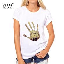 PH AMC TV The Walking Dead t shirt women Short Sleeve Regular hipster T shirts women tops tee shirt femme summer clothes
