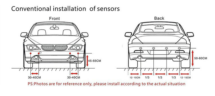 new arrival car reversing sensor system parking assist with6  8 sensors back and front view car