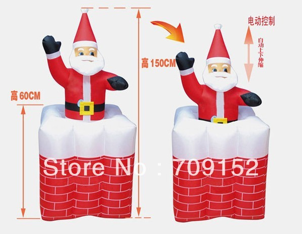 Cpamfree shipping inflatable father christmas decoration for Decoration maison aliexpress