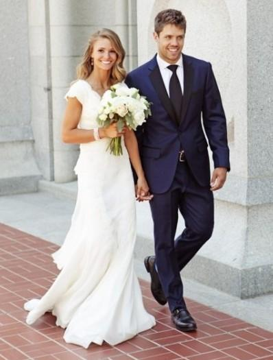 Navy Blue Grooms Tuxedos Black Notched Lapel Wedding Suits ...