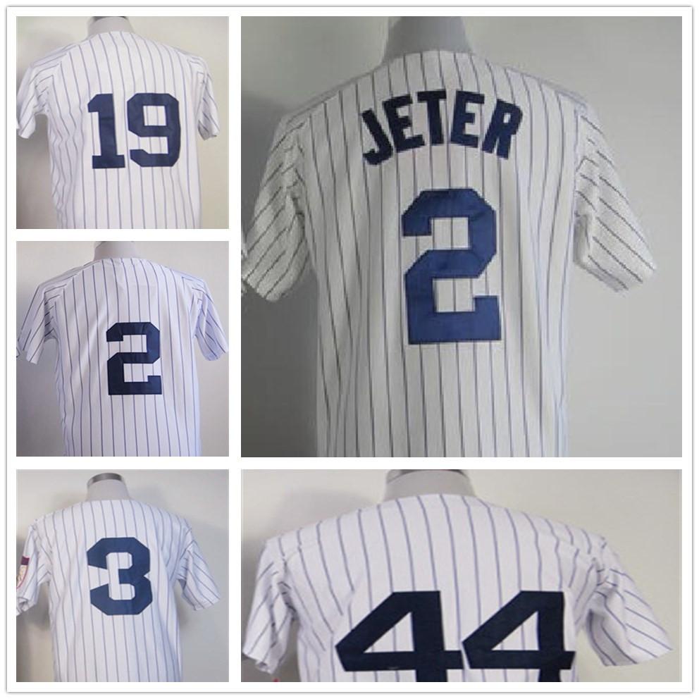 Top quality Mens Baseball 2 Derek Jeter Jersey 3 Babe Ruth cheap 13 Alex Rodriguez Jersey Gray White Jerseys(China (Mainland))