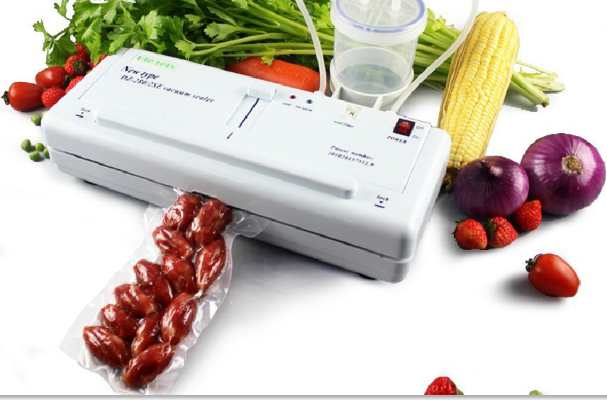Electric Food Vacuum Sealer Vacuum Sealing Machine Liquid and solid all can be packed 220V 50Hz(China (Mainland))