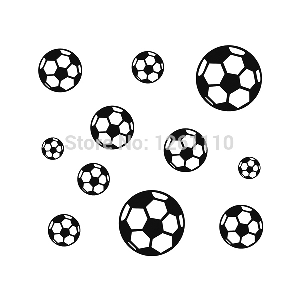 9 kleuren 23 voetbal jongens slaapkamer muur stickers en alle gladde oppervlak vinyl sticker stickers(China (Mainland))