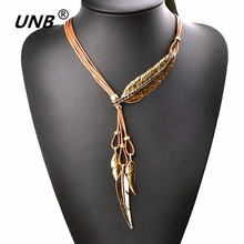 Buy 2017 Brand Big Luxury Statement Pendant Leather Necklace Vintage Maxi Women Rope Chain Chunky Feather Pattern Necklaces Gift for $2.01 in AliExpress store
