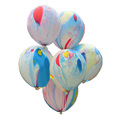 New Arrival 12inch Thicken Unique Rainbow Balloon Clouds Oil Painting Latex Balloons Print Wedding Balloon Home
