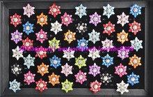 Free shipping Wholesale Mix lots 50 rhinstone crystal resin flower Lady RINGS Spark Wedding/Bridal Ring fashion Costume JEWELRY(China (Mainland))