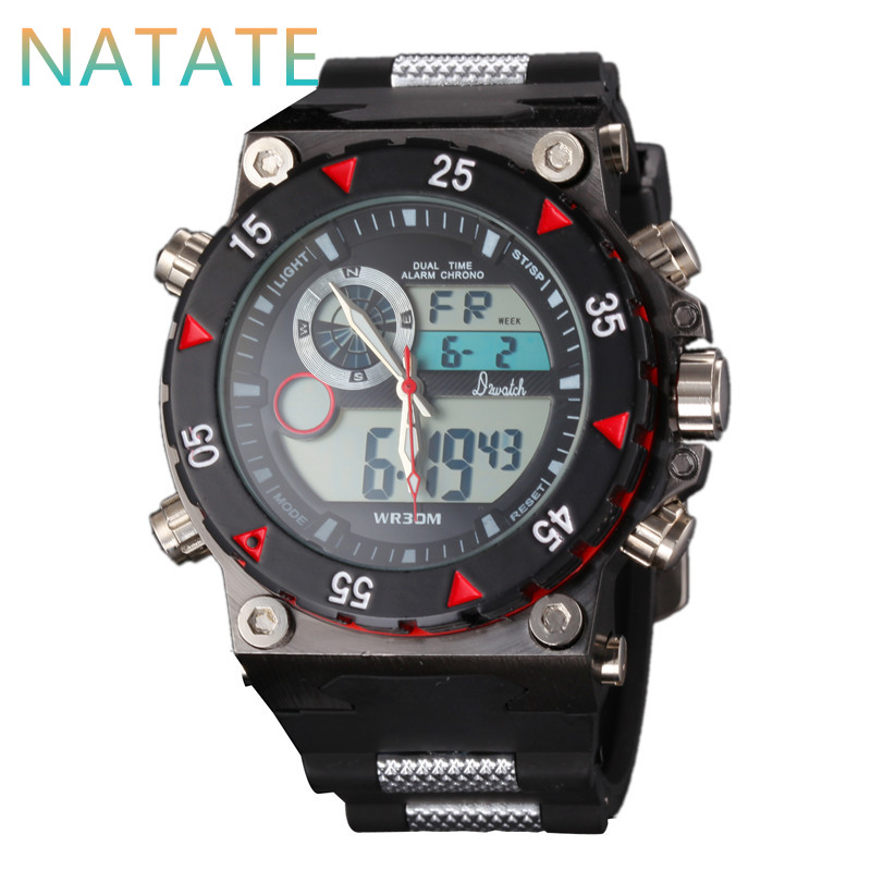 NATATE Elegant Classic Men Watch Classical Art Carved Craft Design Precision Time Chronograph Men Sport LED Watches 1240(China (Mainland))