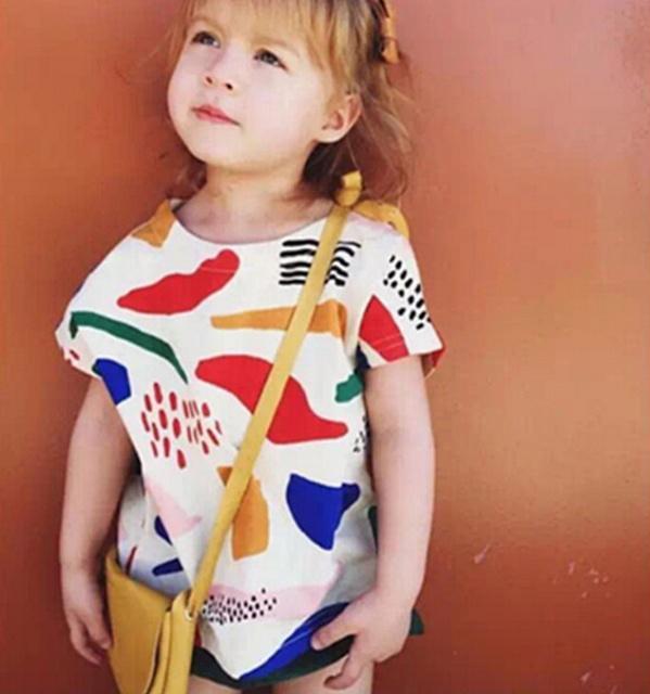 МАКА ДЕТИ Бобо Выбирает Граффити Печати Девочка и Мальчик Футболки Одежда Мода Ти ...