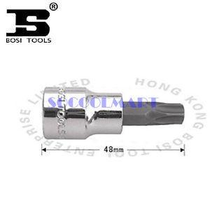 PRETTY 2Pcs 48mm Long 3/8-inch Drive T40 Steel Torx Screwdriver Bit Socket *