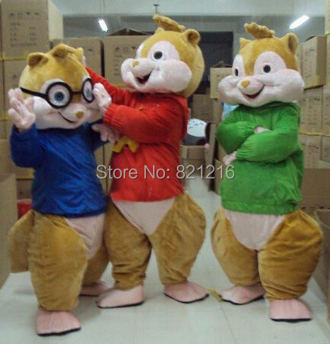 Alvin Chipmunks Costume Chipmunks Mascot Costume