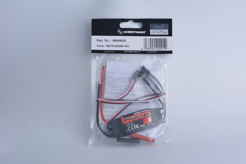 Hobbywing FLYFUN 40A Brushless Programmable Speed Controller ESC 2-6S Lipo battery(China (Mainland))