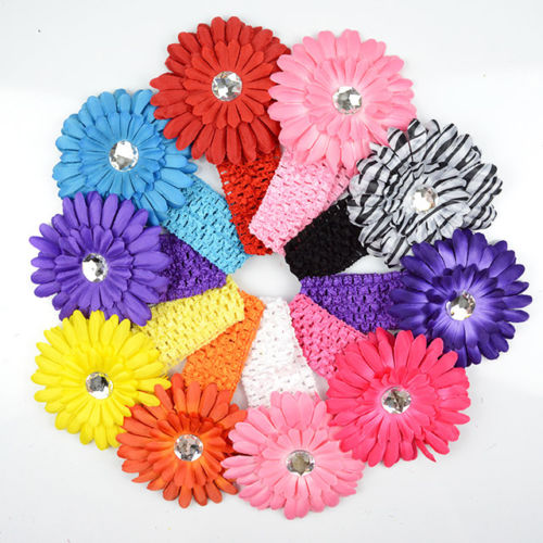 10pcs Colorful Kids Baby Girls Elastic Head Band Hair Clip