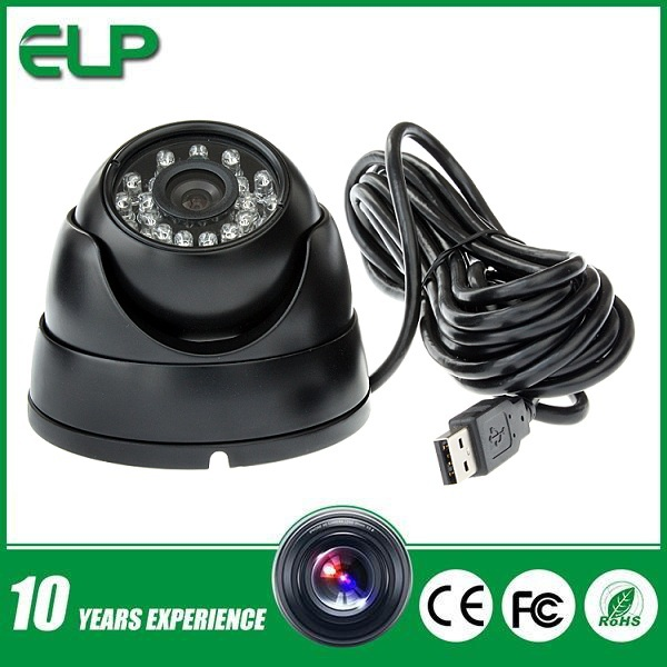 300k pixel pc camera driver Face Detection Infrared Dome USB cctv Camera with 24pcs ir led ELP-UD258(China (Mainland))