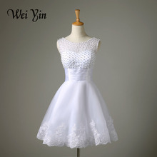 2017 New white/ivory short wedding dresses the brides sexy lace wedding dress bridal gown vestido de noiva real sample(China (Mainland))
