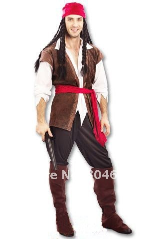 Гаджет  Male pirate costume Masquerade party Pirates of the Caribbean clothing 1set/lot freee shipping None Изготовление под заказ