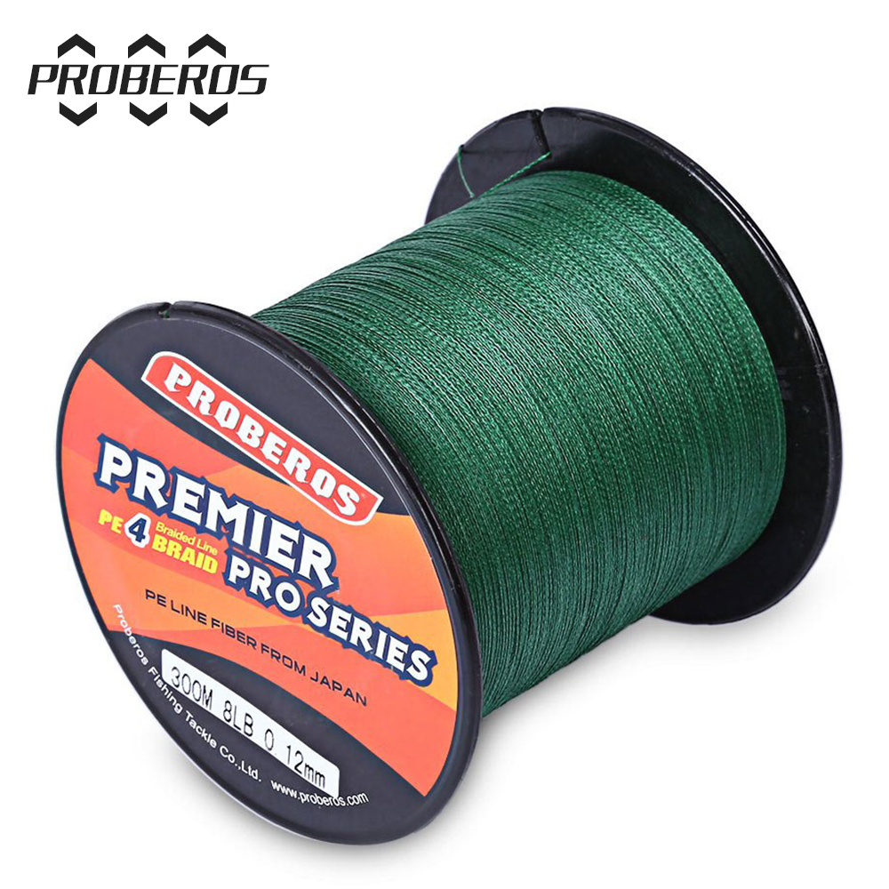 300M PE Braided Fishing Line 4 stands 6LBS to 80LB Multifilament Fishing Line Angling Accessories 5 Colors(China (Mainland))