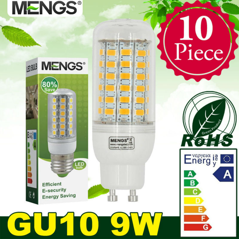 MENGS 10Pcs per pack GU10 9W LED Corn Light 69x 5730 SMD LEDs LED Bulb Lamp In Wram/Cool White Energy-Saving Light