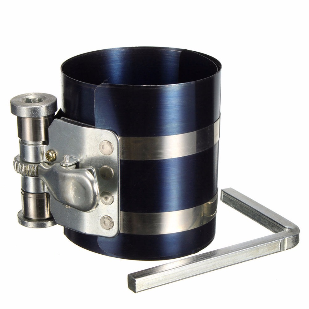 """3"""" Car Engine Piston Ring Compressor Tool Installer Band Ratcheting 53-125mm(China (Mainland))"""