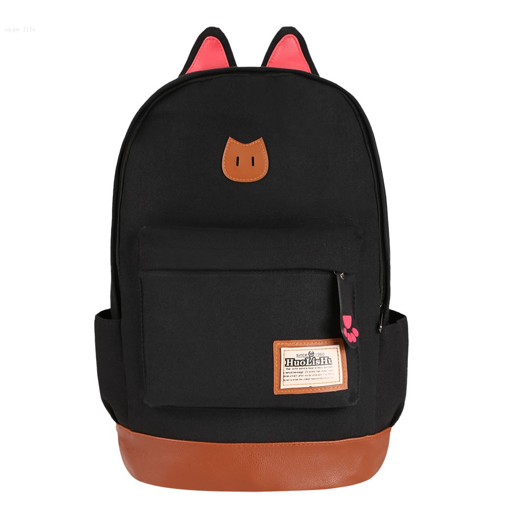 Boys girls korean style stylish cool shoulder bag canvas backpack school travel rucksack in Korean style fashion girl bag