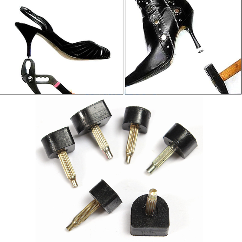 Fashion High Heel Shoes Dowel Stiletto Repair Replacement Tips Taps Pins Lifts Black For Women(China (Mainland))
