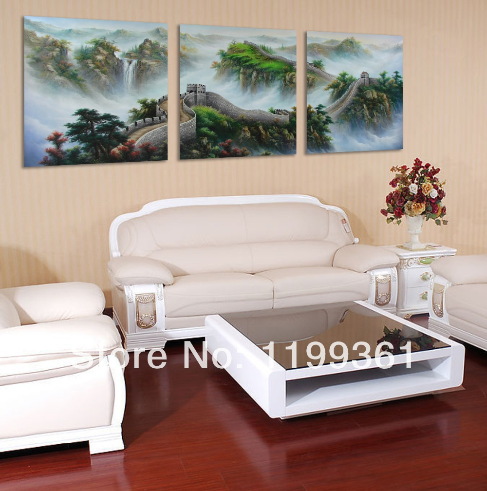 3 Piece Modern Wall Painting Chinese Great Landscape Home Decoration Art Picture Paint Canvas Prints - Idea Furnishing store