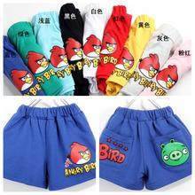 1pcs summer child clothing boys girls cartoon birds short trousers cartoon shorts child short trousers(China (Mainland))