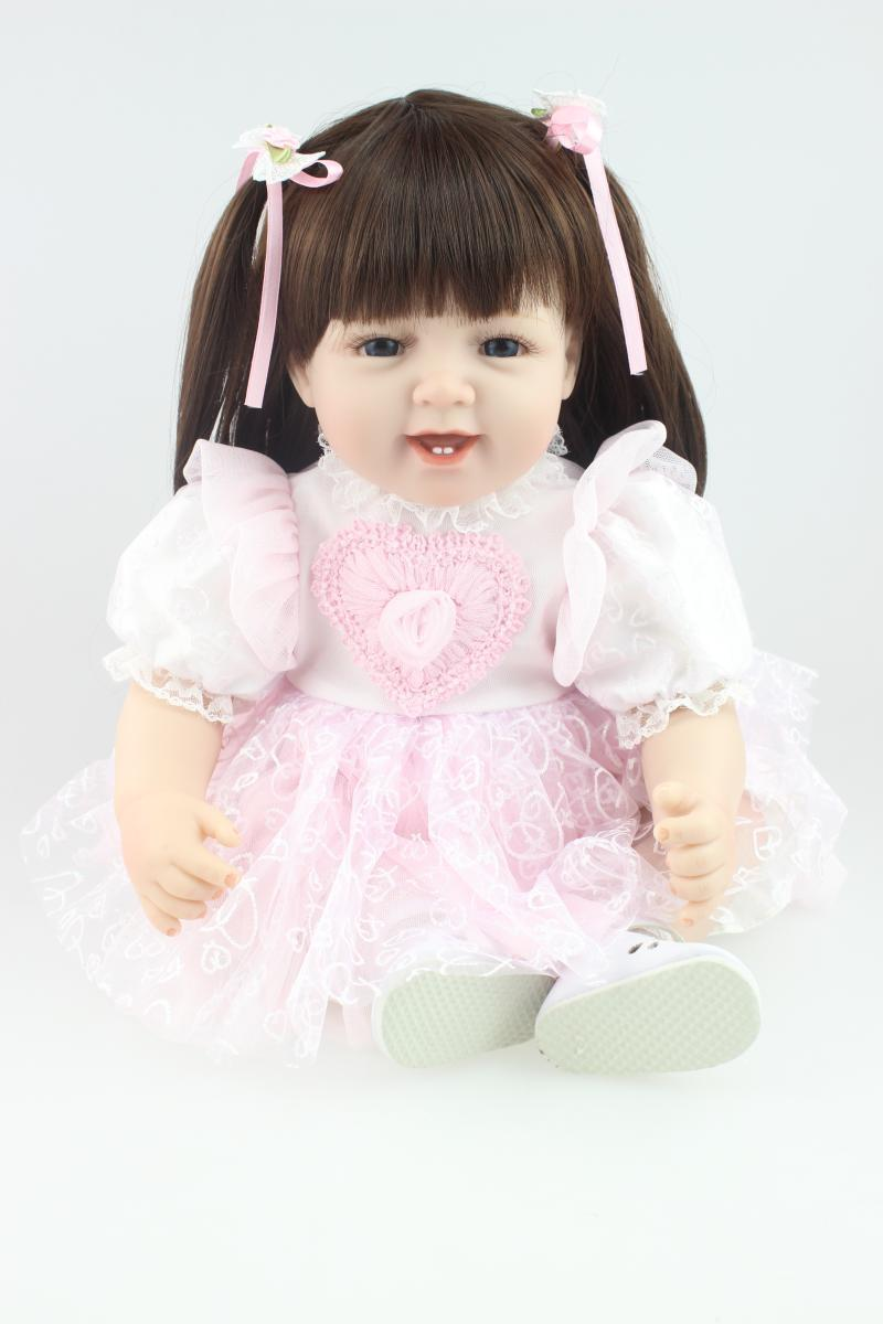 NEW hot sale lifelike silicone  reborn babies dolls for gilrs wholesale baby dolls fashion doll Christmas gift new year gift