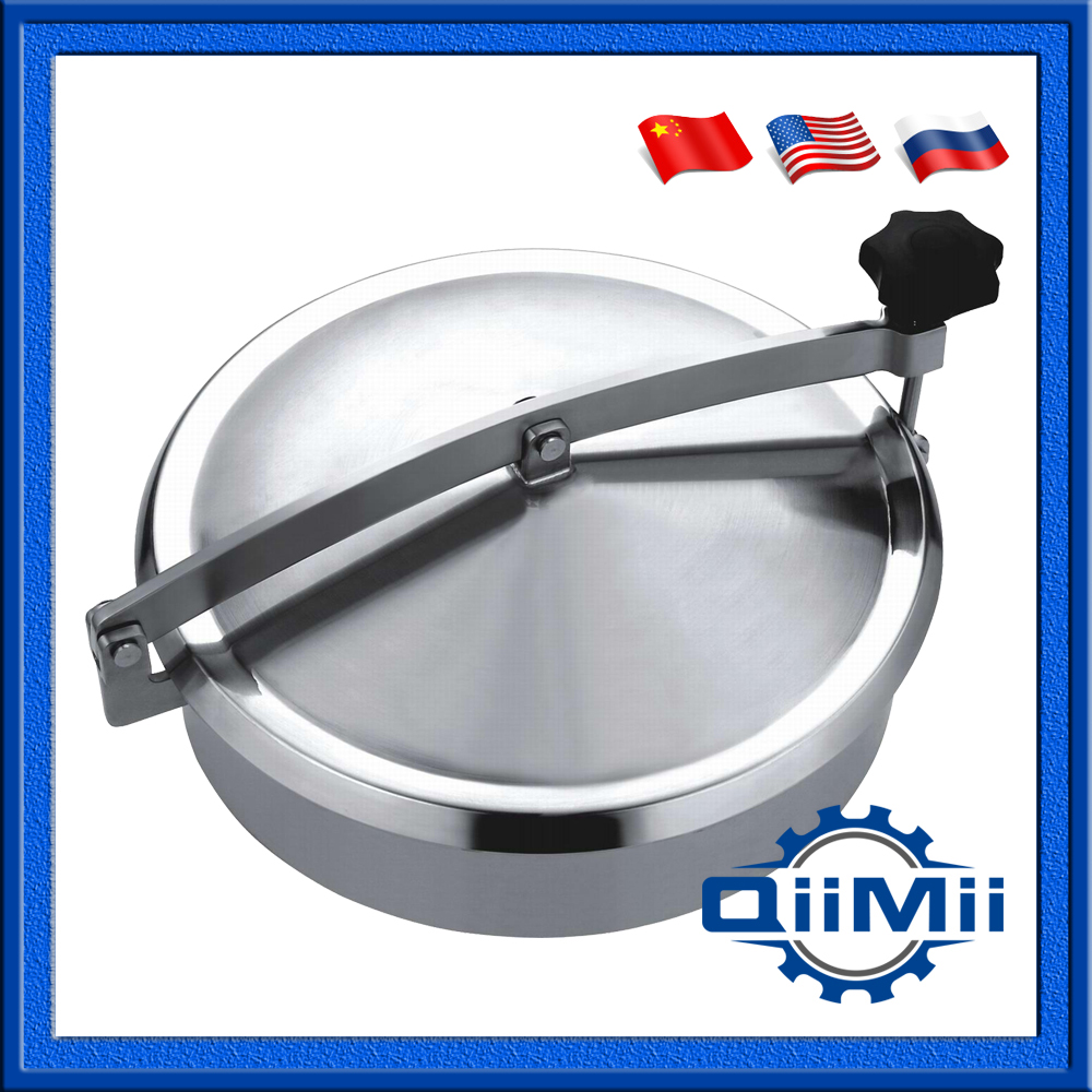 350mm tank manhole Round manhole cover non pressure, Height:100mm SS304 SS316L(China (Mainland))