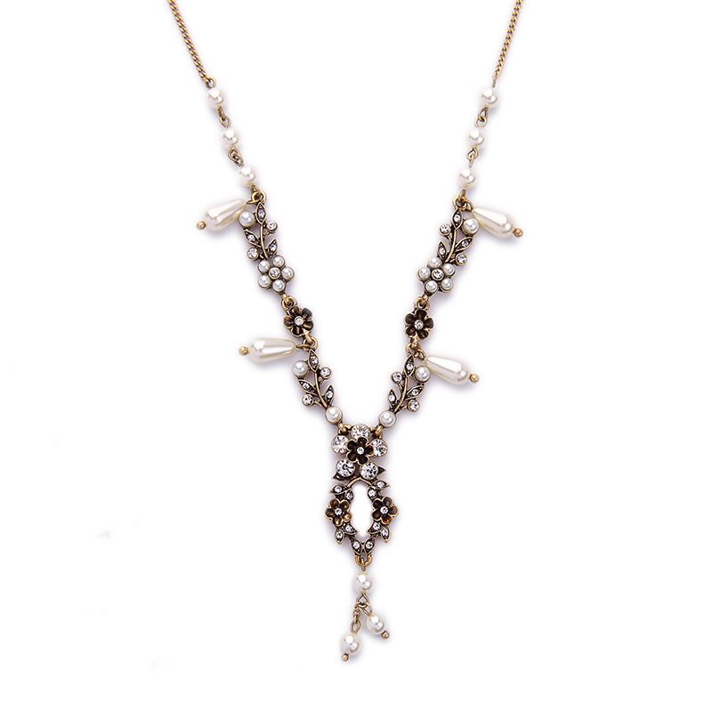 Classic Fashion Imitation Pearls Steampunk Necklace Online Shopping India Jewelry Vintage Necklace Gifts for Women(China (Mainland))