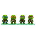 Hot sale 4Pcs lot Teenage Mutant Ninja Turtles TMNT Action Figures Toy Set Classic Collection Car