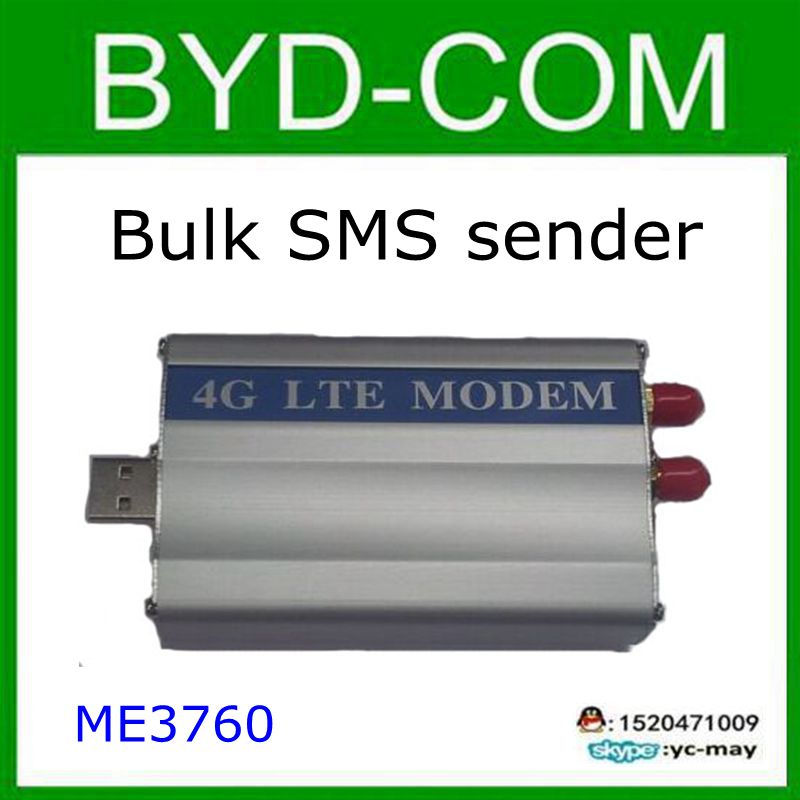 4G LTE MODEM Industrial ZTE ME3760 Module Bulk SMS send message report gprs voice internet develop software(China (Mainland))