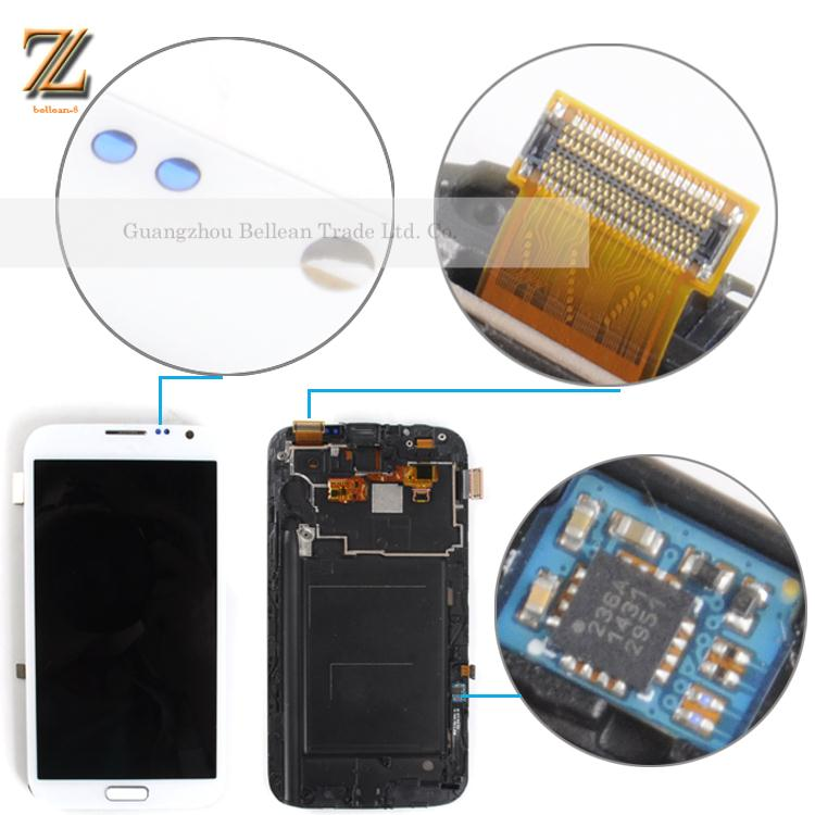 N7100 Lcd Screen For Samsung Galaxy Note 2 N7100 Lcd Display With Touch Screen Digitizer With Frame Free Shipping+Tools 1PCS