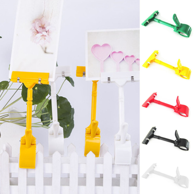1Pc Plastic Advertising Thumb Pop Sign Clip Display Clamp Clear Clothing Folder Special Folder A45(China (Mainland))