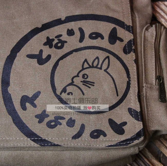 New 2016 Totoro/My Neighbor Totoro Canvas Messenger Bags Cartoon Students Book Crossbody Bags with Mutiple Pockets