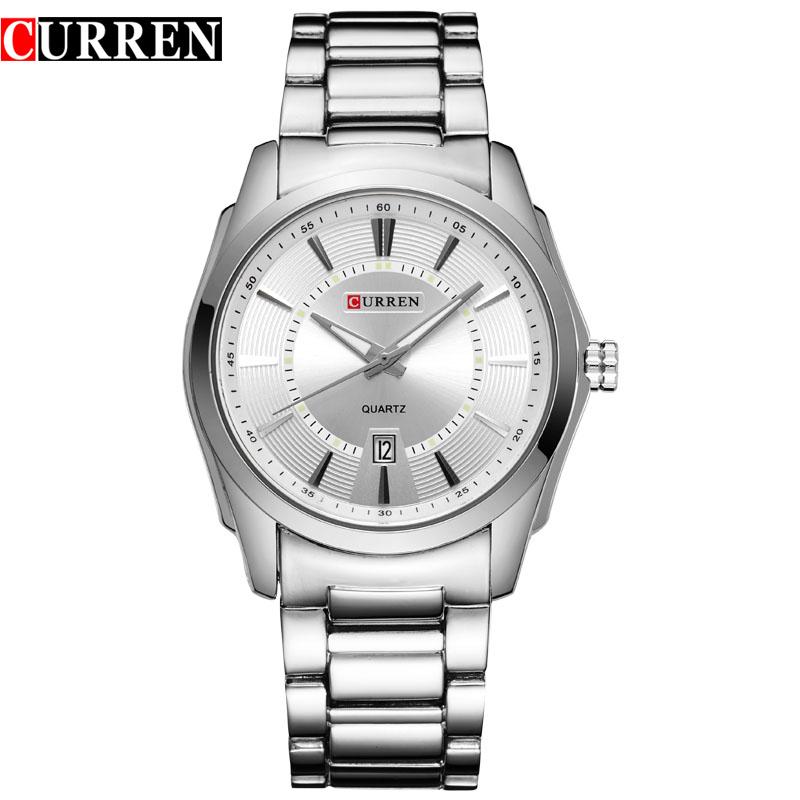 2016 new Curren brand design genuine steel military men fashion clock army sport male gift wrist quartz business watch 8172(China (Mainland))