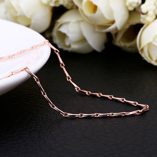 45CM Adjustable 1.5MM Width Women Jewelry 18K Rose Gold Plated Long Necklaces Seed Chain Accessory for Girl free shipping C014(China (Mainland))