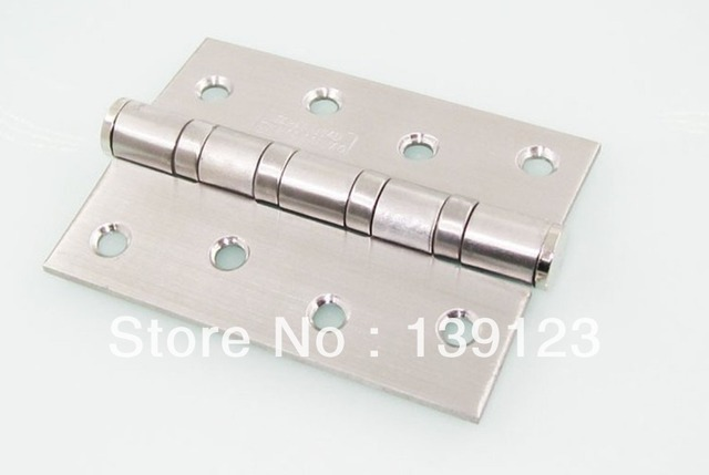 High grade 4 * 3 * 3 door stainless steel hinge series 304 d stainless steel wire drawing 4 inch flat open bearing hinges