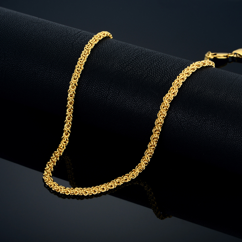 Vintage Choker Chain Necklace Men, Women Accessories Jewelry Wholesale,Gothic 18k Gold Plated Collier Necklace,Cuban Gold Chains(China (Mainland))