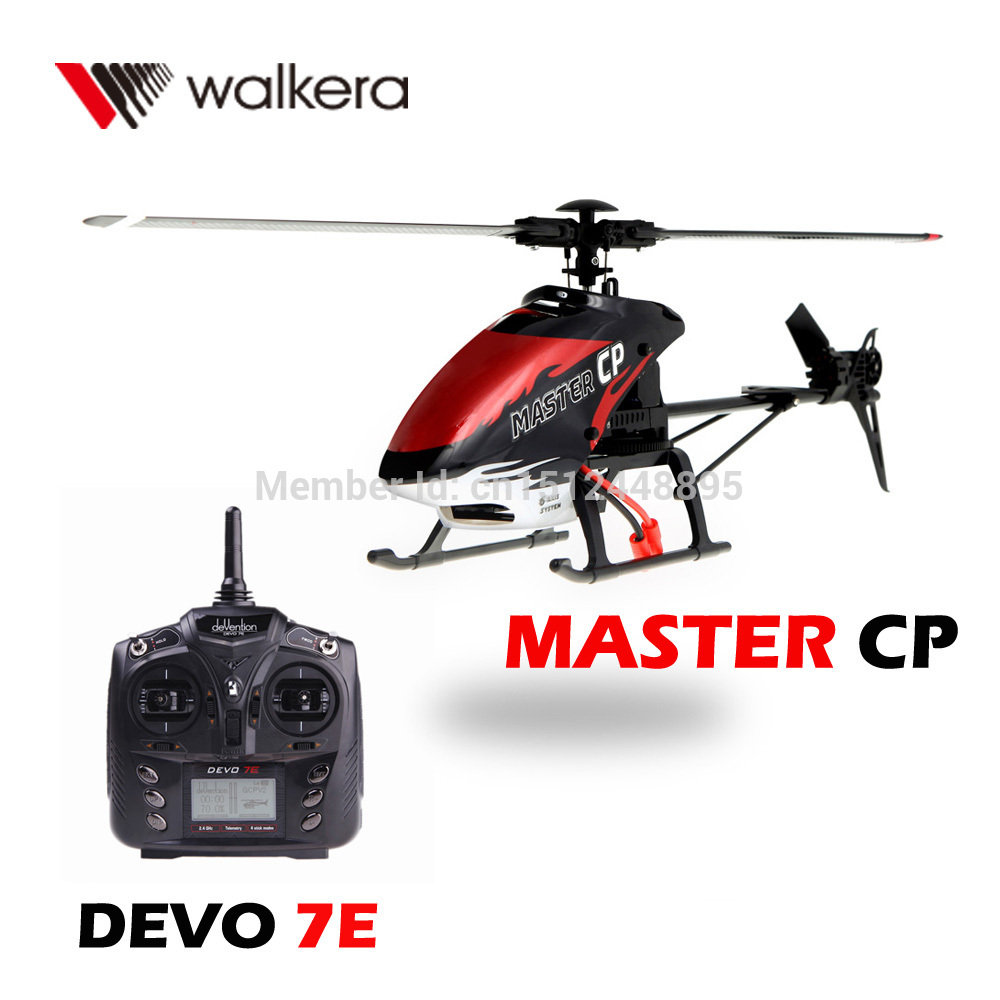 Walkera MASTER CP 6-Axis 3D Flight System Performance Flybarless 6CH RC Helicopter with DEVO 7E Transmitter Model 2(China (Mainland))