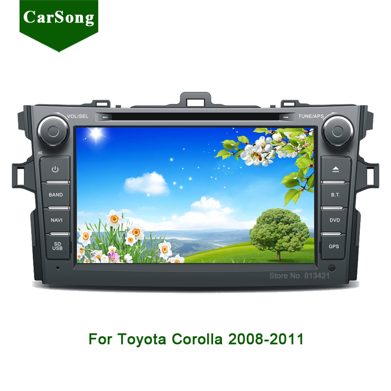 2 Din 8 U0026quot  Car Dvd Radio For 2008 2011 Toyota Corolla Gps