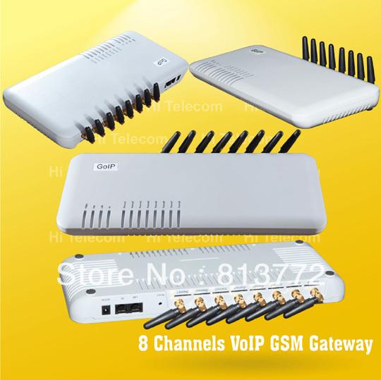 8SIMs VOIP GSM GATEWAY - GOIP8 skype phone voip gateway(China (Mainland))