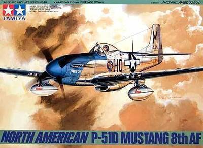 Tamiya 1/48 Scale 61040 North American P-51D Mustang 8th AF Model Kit Free Shipping(China (Mainland))