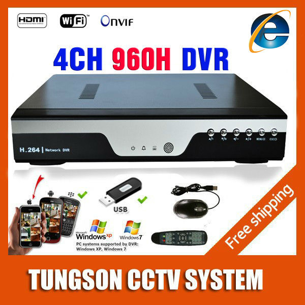 New BEST 4CH 960H Full D1 DVR Camera Recorder H.264 IP Network 4 Channel CCTV NVR Alarm Wifi Real-time Recording Multi-language(China (Mainland))