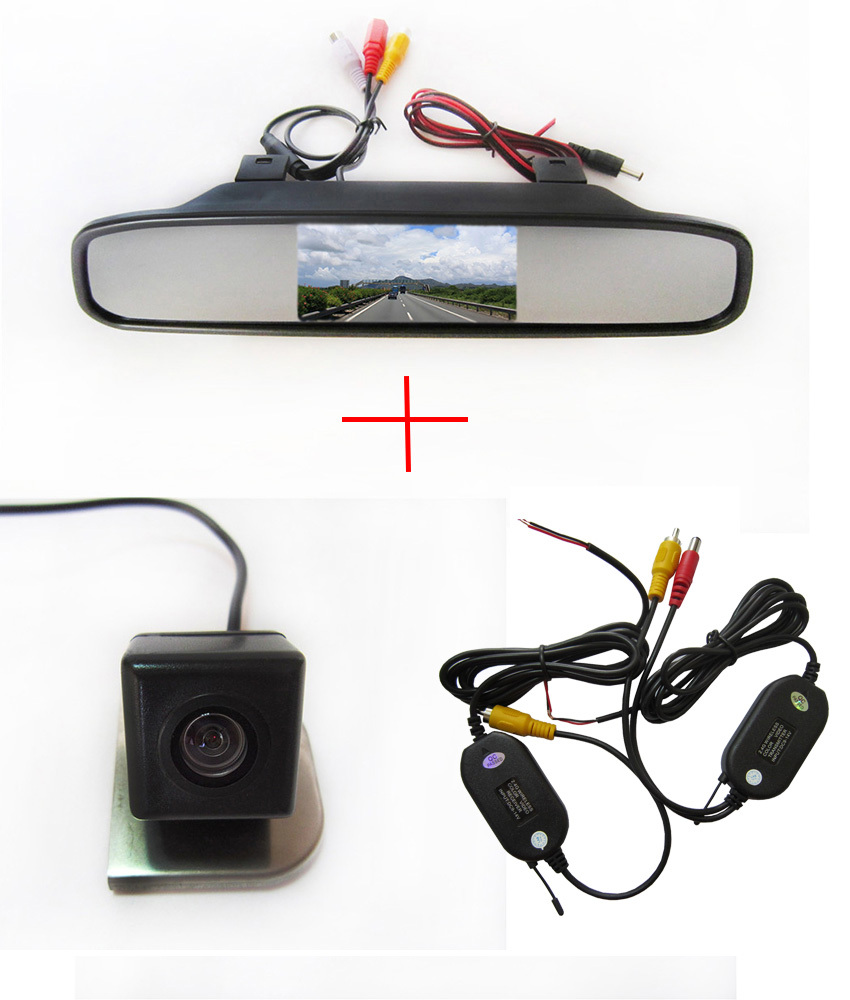 Wireless WIFI CCD camera Car Rear View Camera for 2012 Ford Focus,with 4.3 Inch Rear view Mirror Monitor(China (Mainland))