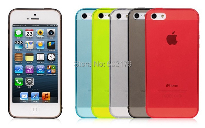 Slim Protection Rear Protective Silicone Phone Case for iPhone 5 5s(China (Mainland))